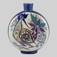Royal Copenhagen Tenera Faience Round Vase Bird Motif
