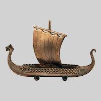Viking Ship Model in Brass
