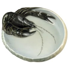 Royal Copenhagen Art Nouveau Lobster Tray