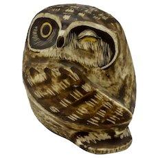Gustavsberg Sweden Owl Figurine by Edvard Lindahl