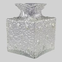 Vintage Glass 'Crocus Vase by Timo Sarpaneva For Iittala, Finland
