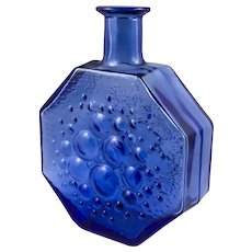 Blue Stella Polaris Glass vase From Riihimäen Lasi of Finland