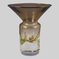 Friedrich Kristall Glass  Germany Mid-Century Art Glass Vase