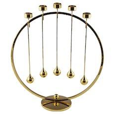 Denmark Asmussen 24 Karat Gold-Plated Advent Candle Holder