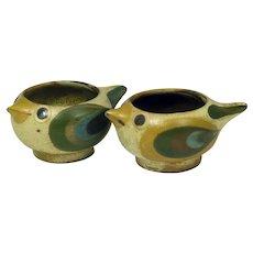 Dybdahl Pottery  Denmark Ceramic Bird Salt Dishes