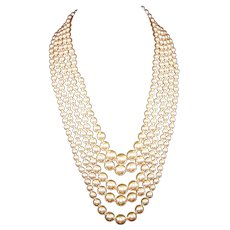 KJL KENNETH J. LANE 5-Strand Imitation Pearl Necklace
