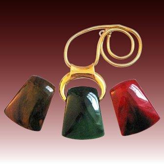Bijoux LANVIN, PARIS Interchangeable Pendants Necklace