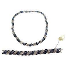 TRIFARI Sapphire and Diamante Rhinestones 'Symphony' Bracelet