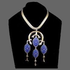 SANDOR CO. Micro Mosaic Pendants Herringbone Necklace
