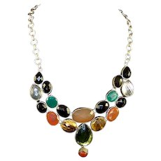 Sterling and Gemstones Necklace