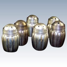 WEIDLICH Sterling 3 Pair Ribbed Salt and Pepper Shakers
