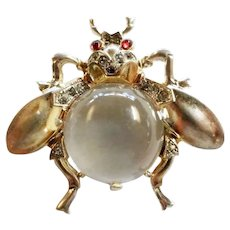 TRIFARI STERLING 'Alfred Philippe' Jelly Belly Large Fly Pin