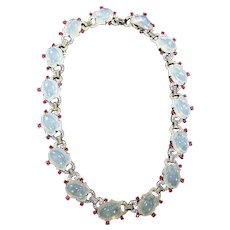 TRIFARI 'Alfred Philippe' Large Moonstone Fruit Salads and Ruby Spangles Necklace