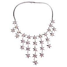 TRIFARI  'Alfred Philippe' Six-Pointed Diamante Rhinestone Studded Necklace
