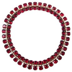 TRIFARI Sterling 'Alfred Philippe' Ruby and Diamante Crystals Necklace