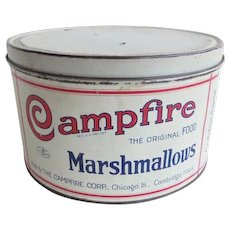Campfire Marshmallow Advertising Tin Vintage