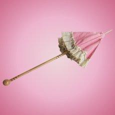 Antique Doll Child Umbrella Parasol