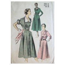 Vintage 1955 Season-Spanning Day Dresses Sewing Pattern, Size 14 UNCUT