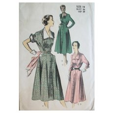 Vintage 1955 Season-Spanning Day Dresses Sewing Pattern, Size 14 UNCUT