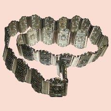 Vintage 1960s Pressed Metal Links Belt