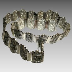 Vintage 1960s Pressed Metal Multiple Links Belt SALE!