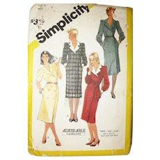 Vintage Pattern 1980's Designer Coat Dresses UNCUT