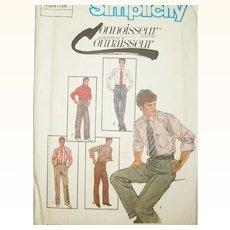 Vintage Sewing Pattern: Men's Trousers UNCUT