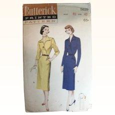 Vintage Sewing Pattern Women's Surplice Dress UNCUT