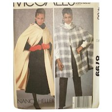 Vintage Sewing Pattern: Misses Outerwear Capes with Hoods - Red Tag Sale Item