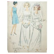 Vintage Sewing: 1960's Bridal Gown, Veils and Bridesmaid's Dress