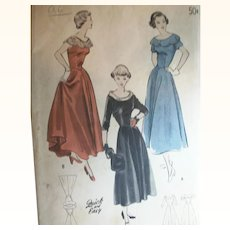 Vintage Sewing: Teen Formal Prom or Evening Dresses, UNCUT