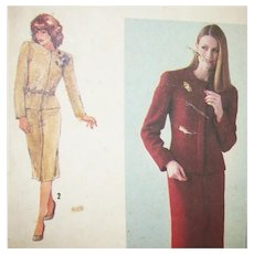 Vintage Sewing: Richard Assalty Jacket & Skirt UNCUT