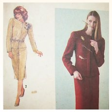 Vintage Sewing: Richard Assalty Jacket & Skirt UNCUT