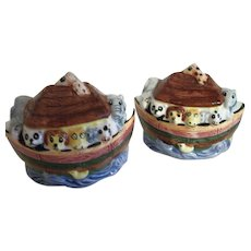 Fitz & Floyd Noah's Ark Salt and Pepper Set