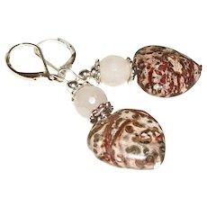 Artisan Rustic and Refined Jasper Hearts Earrings