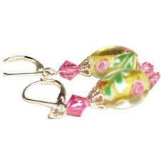 Artisan Handmade Czech Art Glass Earrings
