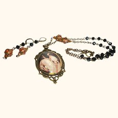 Artisan Vogue 1918 Archival Pendant Necklace and Earrings