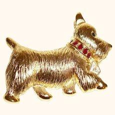Vintage Napier Scotty Dog Figural Pin/Brooch Make Offer!