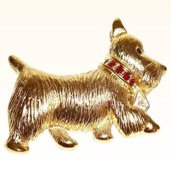 Vintage Napier Scotty Dog Figural Pin/Brooch