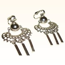 Vintage Ball and Open Weave with Dangles Earrings