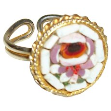 Vintage Micro Mosaic Adjustable Ring
