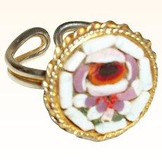 Vintage Micro Mosaic Adjustable Ring