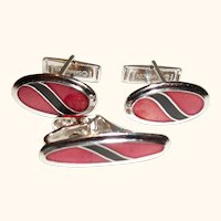 Vintage Sarah Coventry Cuff Links and Tie Clip Set