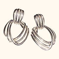 Vintage Triple Open Wires Post Earrings