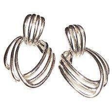 Vintage Triple Open Wires Post Earrings