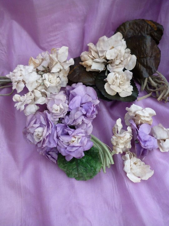 Small batch French faded grandeur millinery flower bouquets or posy ...
