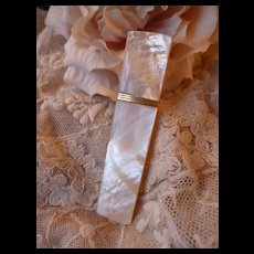 Fine old shimmering French Mother of Pearl Palais Royal needle case