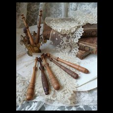 Decorative 19th C. French lace makers bobbins  : Bayeux : Caen Normandy region (8)