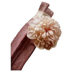 Delicious French rose pink raphia trim : old millinery shop stock with labels: 10 yards : projects ( no. 1 )
