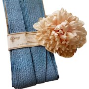 French blue raphia trim : old millinery modiste shop stock with label : 10 yards : projects ( no. 2 )